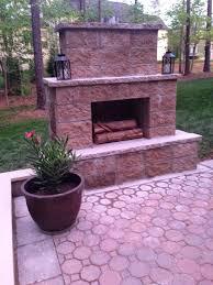 permalink to interesting block outdoor fireplace design