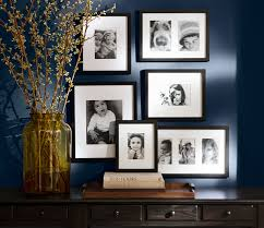 making a gallery is easy when you the frames from one source pottery barn s gallery in a box comes in sets of six 10 or 15 in black white