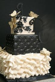 Cake Desserts Black And White Wedding Cakes Square Pictures