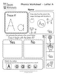 Make spaghetti string worksheet with phonics: Preschool Phonics Worksheets Learning Beginning Sounds From A To Z