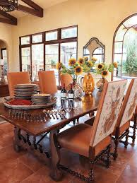 elm dining table in terraneaninspired dining room