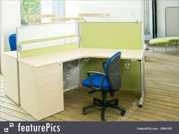 office cubical. Interior Architecture: Office Desks And Blue Chairs Cubicle Set View From Top Over Wood Flooring Cubical
