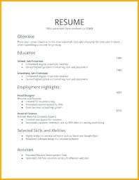 Resume Writing Template Format For Resume Writing Internship Resume ...