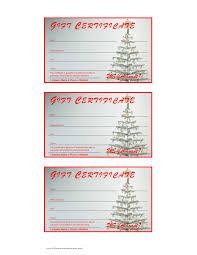 Printable Christmas Certificates Christmas Gift Card Templates Free Printable With Certificate