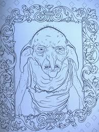 Harry Potter Coloring Pages Dobby Dog