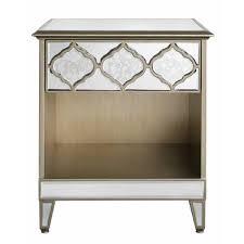 glass bedside table. Glass Bedside Table E