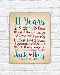 11th anniversary gifts choose any year countdown calculations childrens names art years together dating married spouse gift wf529