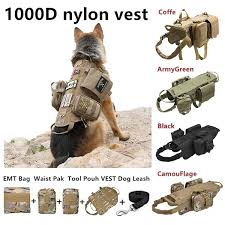 <b>Tactical</b> Dog <b>Molle Vest</b> Harness Training Dog <b>Vest</b> with Detachable ...