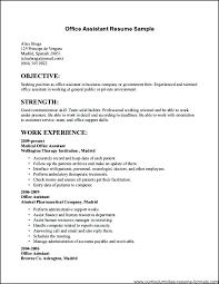 Office Job Resume Post Office Clerk Resume And Medical Secretary