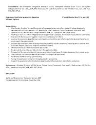 8. Environment: IBM Websphere Integration developer ...