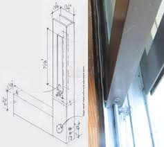user submitted photo and drawing of their sliding glass door