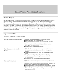 Cashier Duties For Resume Sample Cashier Resume 7 Examples In Word Pdf