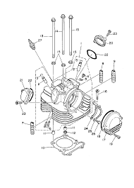 yamaha kodiak 400 parts diagram yamaha image 1994 yamaha kodiak 400 4wd yfm400fwf cylinder head parts best on yamaha kodiak 400 parts diagram