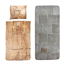 above a portion of the proceeds from le clochard and le trottoir the cardboard and pavement photorealistic bedding by snurk goes to help the homeless
