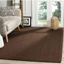 safavieh natural fiber sisal chocolate dark brown area rug 3 x 5