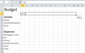 How To Make A Monthly Budget On Excel How To Make A Budget Planner On Excel Rome Fontanacountryinn Com