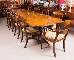dining table 10 chairs. superb bespoke 10 ft burr walnut twin pillar dining table \u0026 chairs