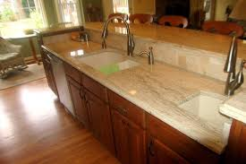 maple cherry cabinets ambrosia white granite tile backsplash with glass accent traditional