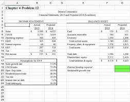 Solved Instructions Use The Pro Forma Financial Statemen