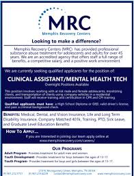 Clinical Assistant Jobs Memphis Recovery Centers Inc Clinical Assistant Overnight Job