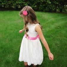 picture of easy diy flower girl dress