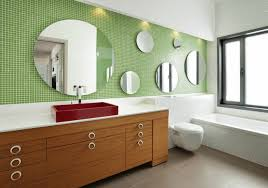 bathroom mirror frame tile. Exellent Tile Series Of Round Mirrors In Different Sizes Placed On A Mosaic Tile Wall Intended Bathroom Mirror Frame Tile