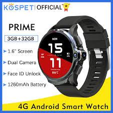 KOSPET Prime 3GB 32GB Đồng Hồ Thông Minh Smart Watch Men Đồng Hồ Nam Điện  Thoại