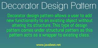 Decorator Design Pattern In Java Beauteous Decorator Design Pattern In Java