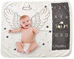 Baby Milestone Blanket Womdee Newborn Photo Background