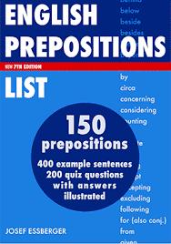 Preposition List Grammar Englishclub