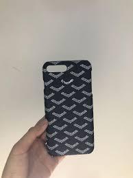 Design Case Hp Goyard Case Casing Hp Iphone 7 8 Leather Material