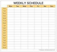 Printable Weekly Schedule Maker Blank Printable Weekly Schedule Planner Weekly Calendar Maker