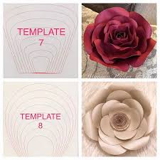 Paper Flower Template Pdf Paper Rose Template Pdf Fresh Paper Flower Templates Craft Room