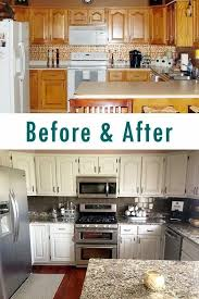 Painting Over Kitchen Cabinets Custom Kitchen Cabinets Makeover DIY Ideas Kitchen Renovation Ideas On A