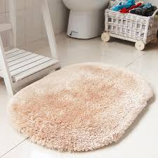 L BathroomBathroom Thick Shaggy Rug New American Style Oval Carpet Solid  Stunning Bath Bathroom