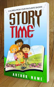 children book cover design story time 3d