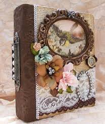 Vintage Photo Albums Vintage Style Binder Mini Album Mini Scrapbook Albums
