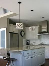 kitchen lights menards indoor lighting fixtures black and white drum hanging lamp shades above island with marble countertop pendant light outstanding wall
