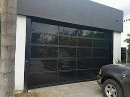 S Contemporary Black Aluminum U0026 Laminate Privacy Glass Garage Door