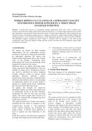 pdf torque ripple calculation of a permanent magnet synchronous motor supplied by a three phase inverter with pwm