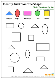 Identify and Colour the Shapes – Maths Worksheets for Kids – Mocomi.c…