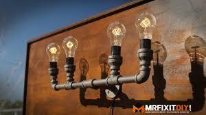 Homemade Lighting Fixtures Bathroom Wall Lamps Homemade Lighting