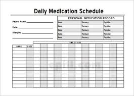 Medication Chart Template Free Download Home Medication Chart Template Printable Daily Medication