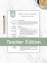 Teacher Cv Teacher Resume Template For Word Pages Resume For Teacher Elementary Template Teacher Instant Download