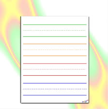 Writing Lines For Kindergarten Preschool Writing Paper Lined Paper For Kindergarten Elementary Dyslexia Dysgraphia Down Syndrome
