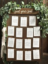 Etsy Table Seating Chart Find Your Seat Seating Chart Board Rustic Seating Sign Wood
