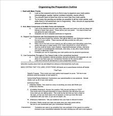 How To Do A Presentation Outline Presentation Outline Template 24 Free Sample Example