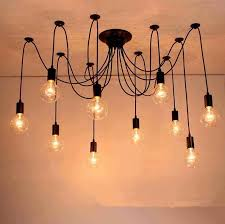 10 heads diy pendant lights modern nordic retro hanging lamps edison bulb fixtures spider ceiling lamp