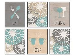 Jetec rustic kitchen wall decor eat drink love enjoy wall hanging wood sign wooden kitchen restaurant hanging wall art for home kitchen dining room house decor. Dining Room Decor Cafe Kitchen Wall Art Print Gift For Women Her Cooks Chefs Engagement Anniversary Birthday Contemporary Home Decor Mural Eat Drink Love Photo Pictures Set Yellowbird Art And Design