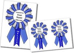 Blue Ribbon Template Printable Award Ribbon Templates